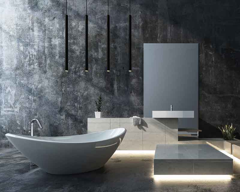 Badezimmer Lichtdesign